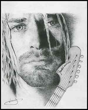 Kurt Cobain par portraitemoi